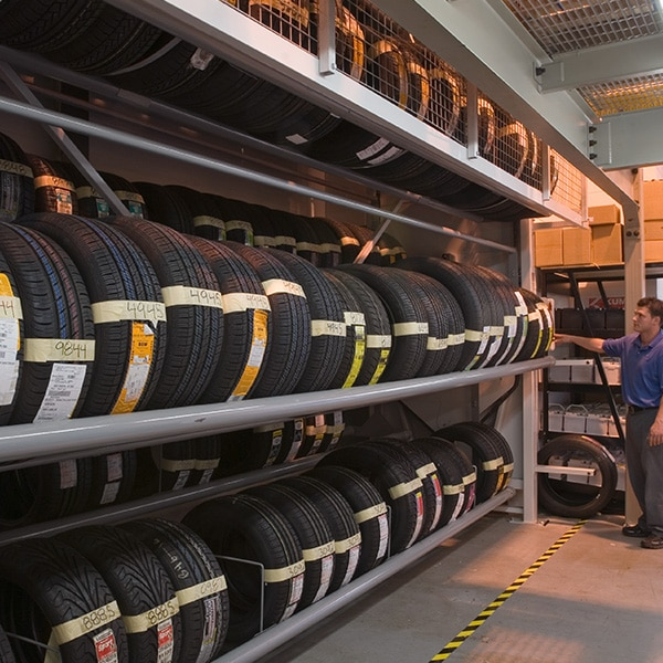 Tire Carousel Vertical Storage